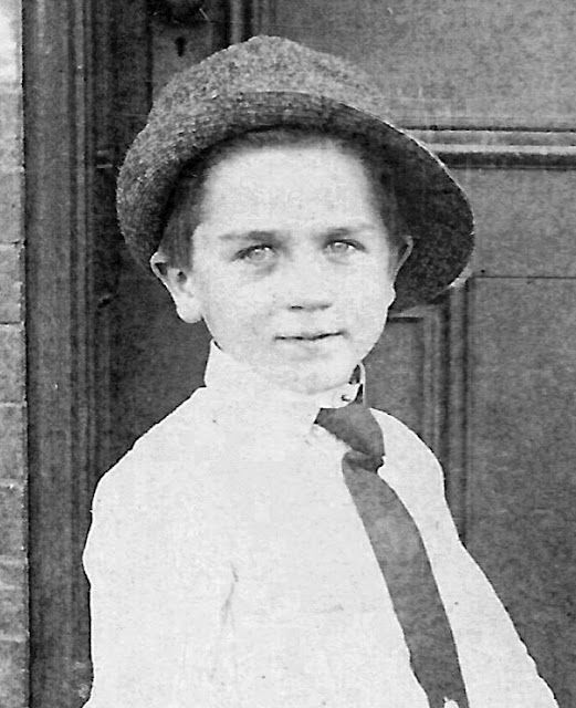 Wallace Bernard Dixon, age 7. Portrait taken by E.L. Jenkins & Co. NY in 1912. Held by E. Ackermann, 2017.