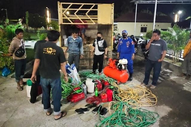 7 pelaku bom ikan asal Bima ditangkap, ini alat-alat yang digunakan