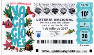 sorteo extraordinario de loteria nacional del sabado 1 de julio de 2017