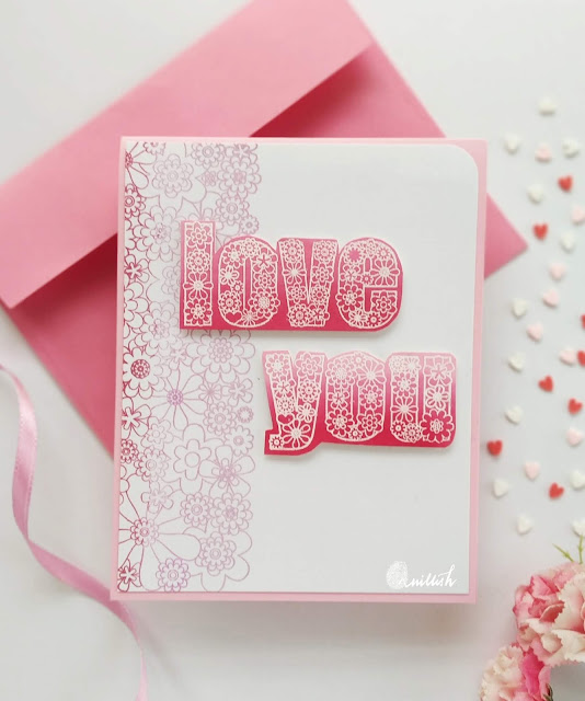 TO, CAS-ual Fridays, Love card, Valentines day card, Hero Arts Ombre inks, Ink blending, floral card, Quillish, CAS-ual fridays full on floral, flower power