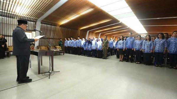 321 pejabat fungsional di lingkungan Pemerintah Kota Bandung dilantik