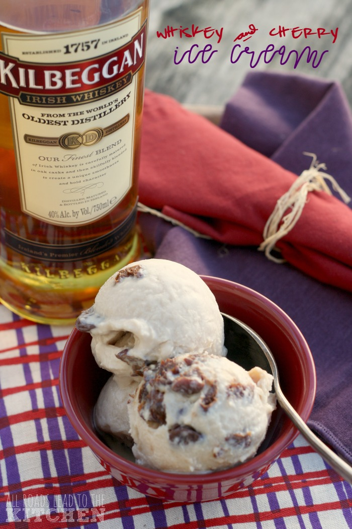 Kilbeggan Whiskey and Cherry Ice Cream