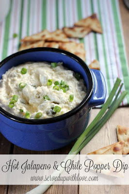 Hot Jalapeno & Chile Popper Dip recipe from Served Up With Love