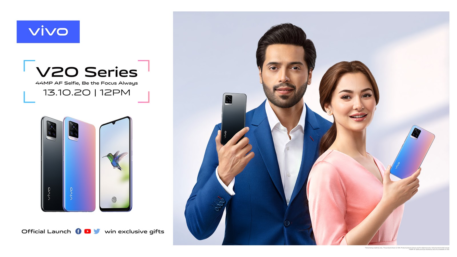 vivo to Launch the Flagship V20 Smartphone with 44MP Eye Autofocus in Pakistan on October 13