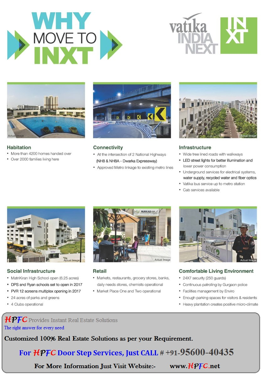 Vatika Group Vatika India Next Independent Floors, Plots, Apartments Gurgaon