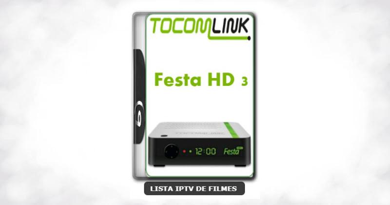 Tocomlink Festa HD 3 Nova Atualização Satélite SKS Keys 61w ON V1.07