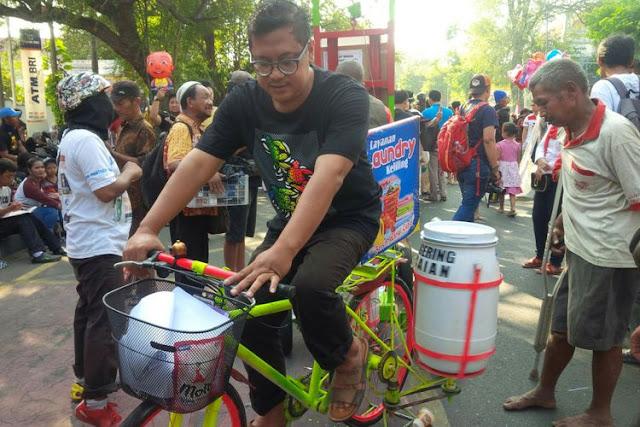 Kreatif Banget! Mesin Cuci Gowes Karya Warga Solo