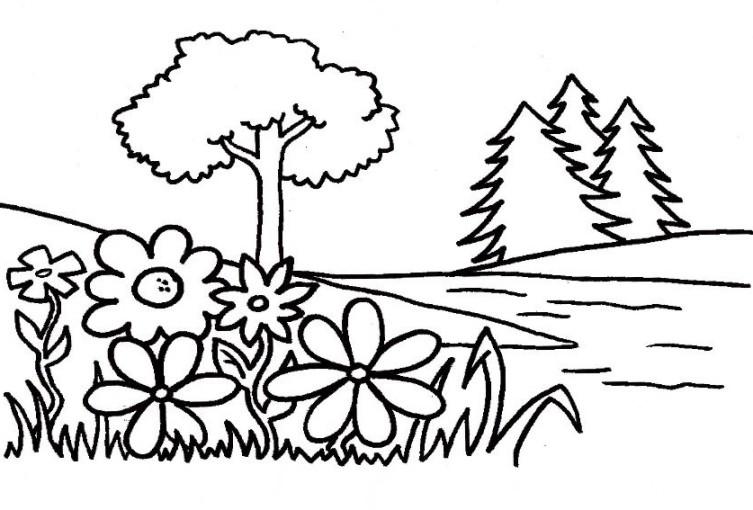 Gambar Mewarnai Taman Terbaru Gambarcoloring