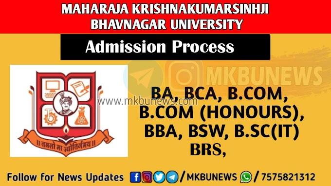 BA, BCOM, BCA, BBA, BSC IT, BSW MK Bhavnagar University (MKBU) Provisional  Merit List 2021