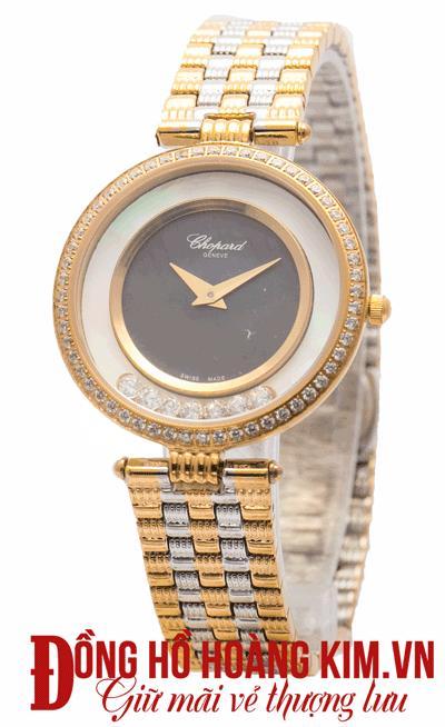 đồng hồ nữ chopard dây sắt đẹp