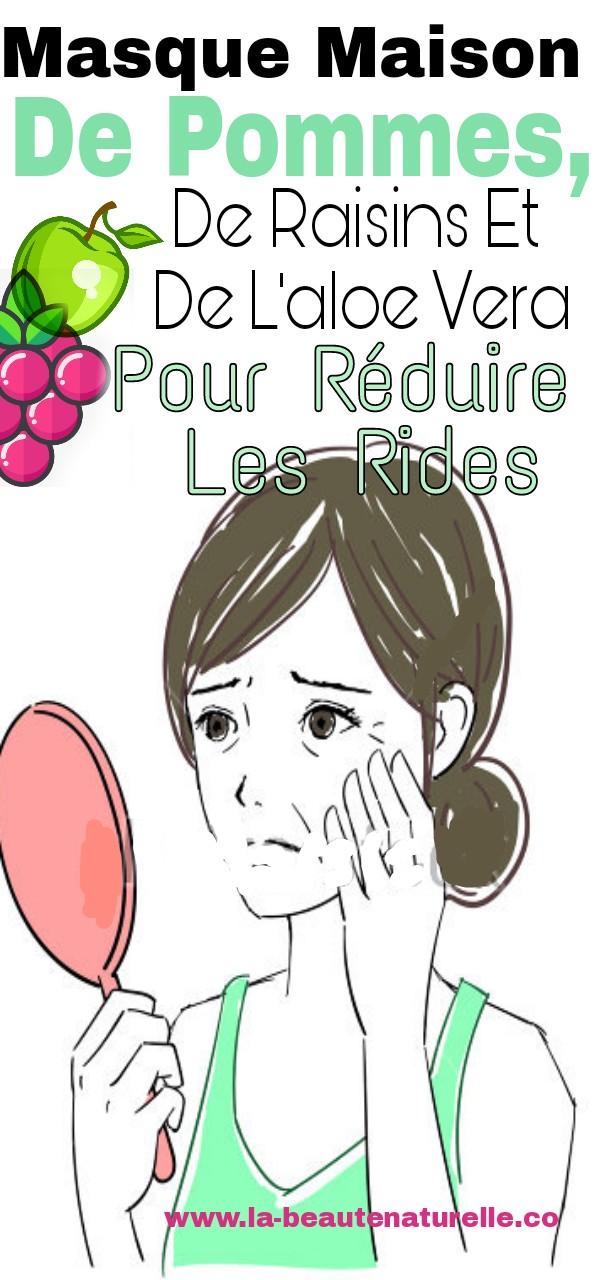 Masque maison de pommes, de raisins et de l'aloe vera pour réduire les rides