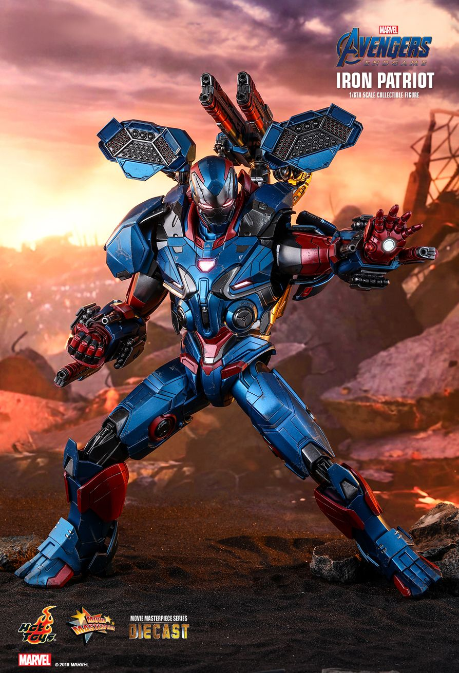 Hot Toys Avengers: Endgame Iron Patriot MKII 1/6 Scale