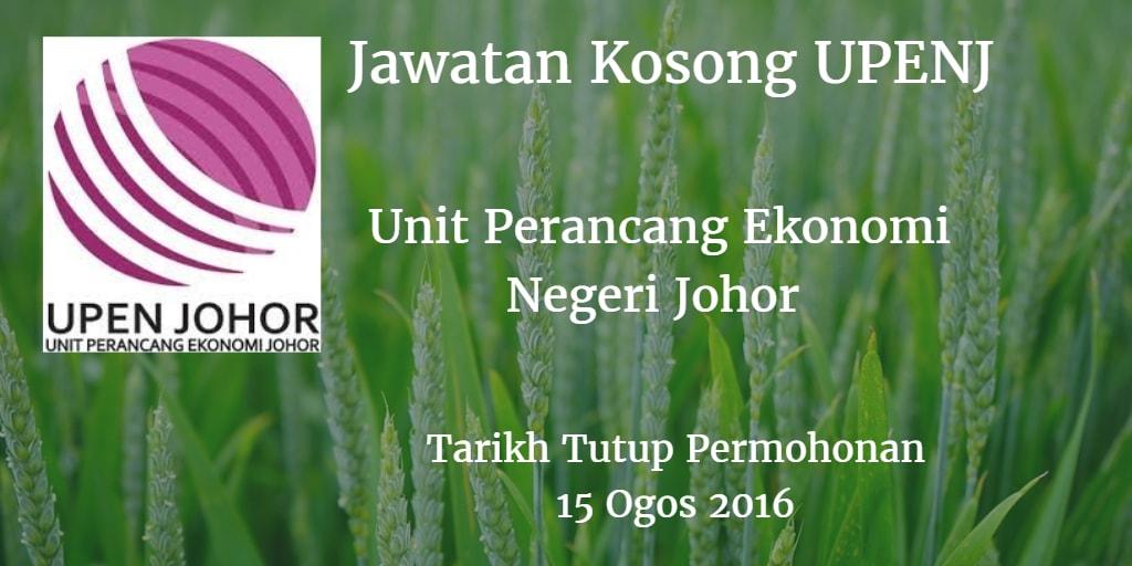 Jawatan Kosong UPENJ 15 Ogos 2016