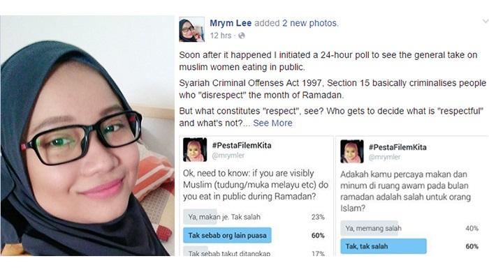 Wanita 'Period' Ini Makan Secara Terbuka Di Bulan Ramadhan Dikecam Netizen