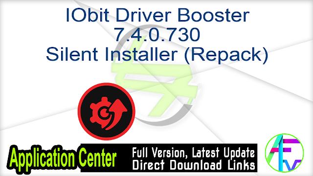 IObit Driver Booster 7.4.0.730 Silent Installer (Repack)