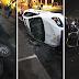 Hartos de la desinformación, voltean vehículos de Televisa y Tv Azteca durante protestas en Monterrey (VIDEO).'