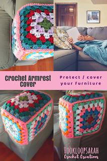 crochet armrest cover