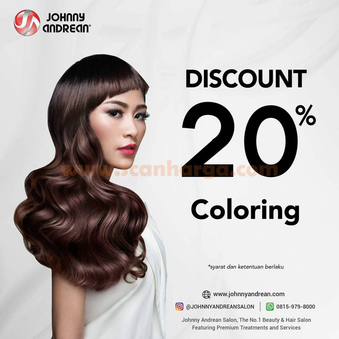 Promo Johnny Andrean Salon Discount 20% Coloring
