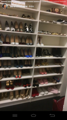 Serena Williams shows off her shoe & bag closet (photos)