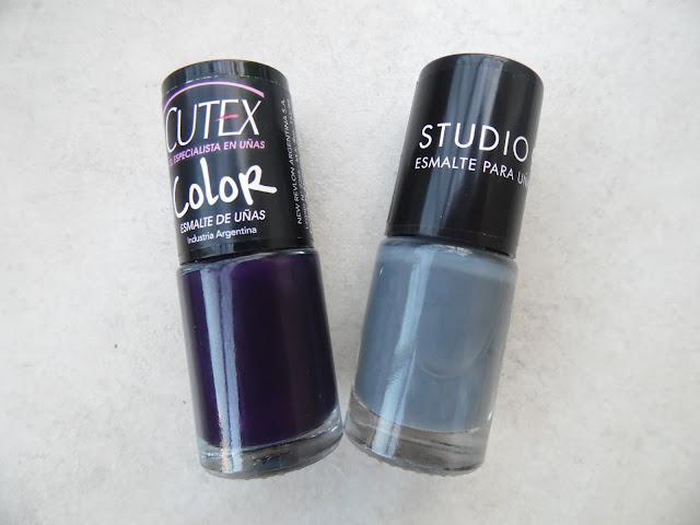 Foto descriptivas de esmaltes Studio 9 y Cutex- Sala de Maquillaje