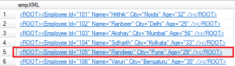 Update XML node value with new value in table in sql server