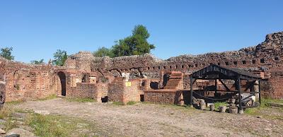 Ruiny zamek Krzyżacki w Toruniuu
