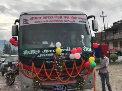 India Nepal bus service Kathmandu-Siliguri