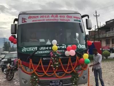 Nepal's Kathmandu to India's Siliguri Bus Service flagged off