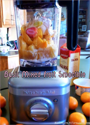 Basic Mixed Fruit Smoothie recipe and lots of suggestions for substitutions to incorporate your favorite flavors. | Recipe developed by www.BakingInATornado.com | #recipe #drink