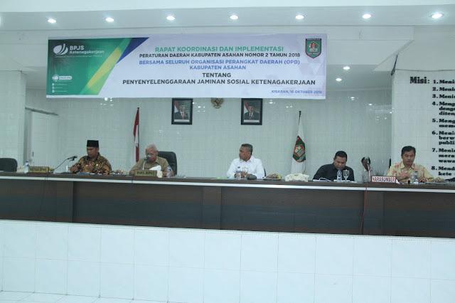 Rapat Koordinasi Perda No 2 yang digelar Pemkab Asahan.