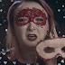 Halloweenska krvavá škraboška