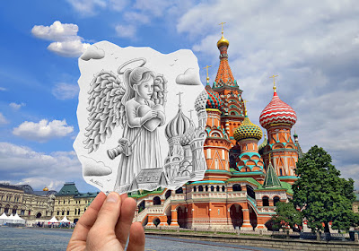 pencil vs camera - st basil cathedral benheinerussia