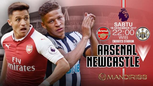 Prediksi Bola : Arsenal Vs Newcastle , Sabtu 16 Desember 2017 Pukul 22.00 WIB