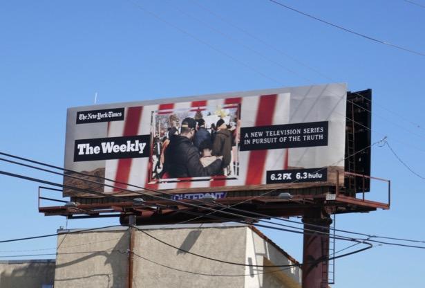 New York Times Weekly TV series billboard