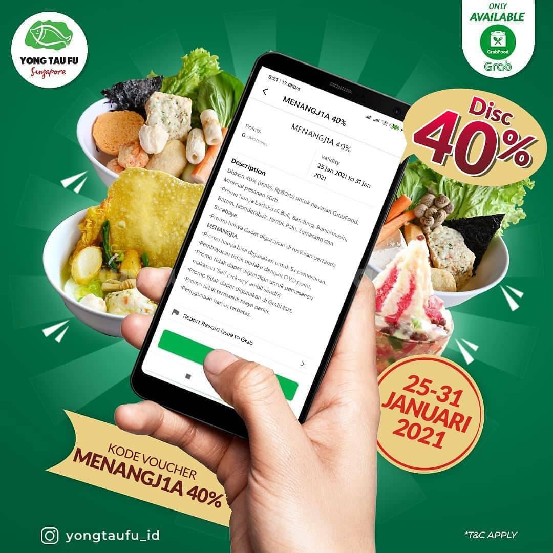 YONG TAU FU Spesial Promo GRABFOOD! DISKON 40%