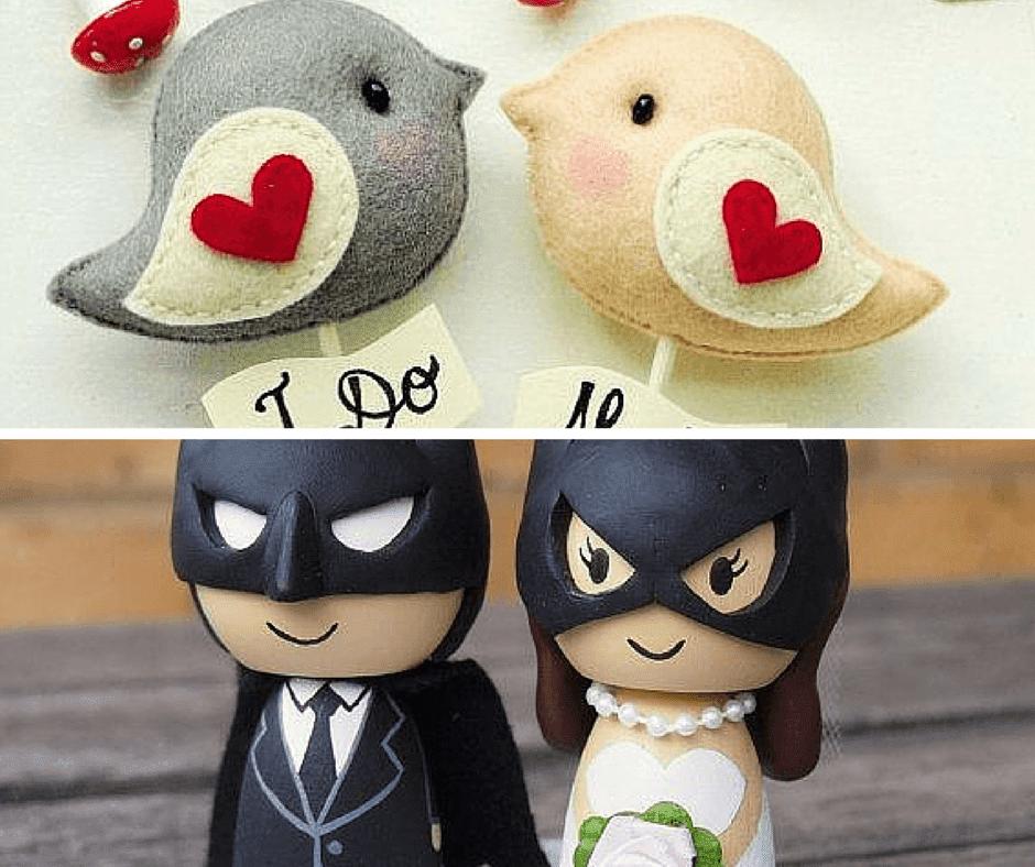 забавни фигурки за сватбени торти