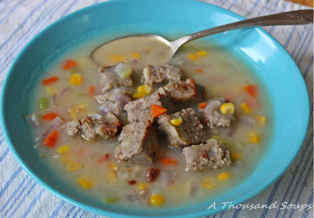Meatloaf and Mashed Potato Soup