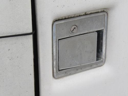 trailer door latch and lock