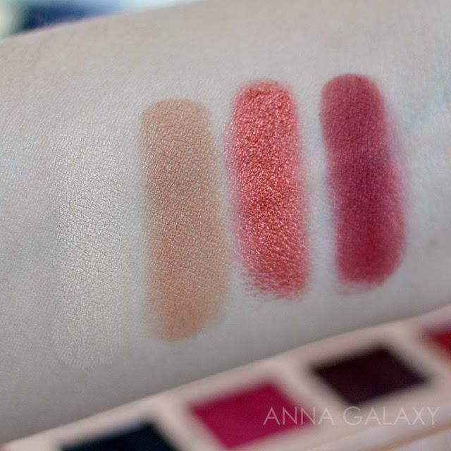Свотчи  Imagic PROfessional cosmetics 16 color eyeshadow palette