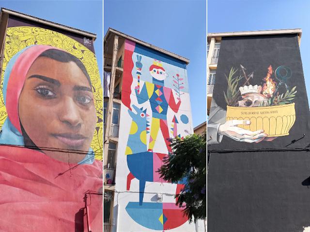 opere di street art kalsa Palermo
