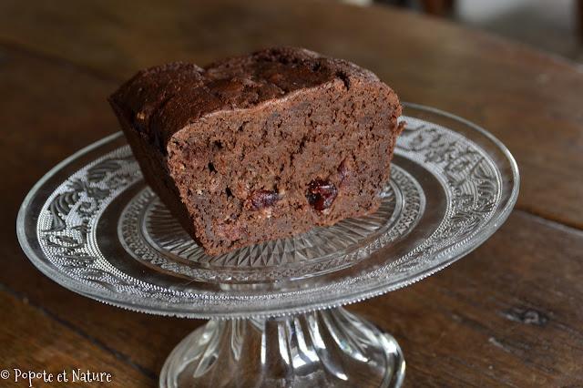Gâteau au chocolat à la courgette et aux cranberrys @Popote et Nature