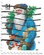 Selo Papai Noel Azul