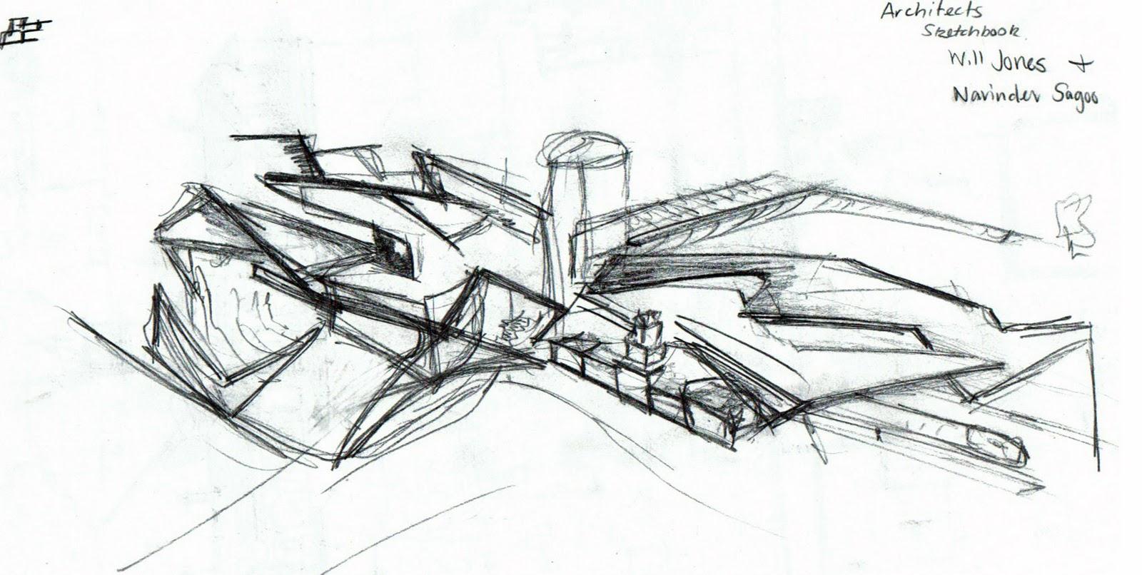 Pre Fab Architecture Initial Concept Sketch