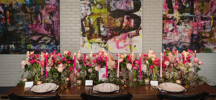 A Pink & Modern Manhattan Celebration