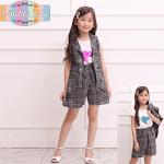 Setelan Anak Perempuan New Khasmire Spandex Premium
