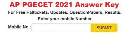 AP PGECET Answer Key 2021
