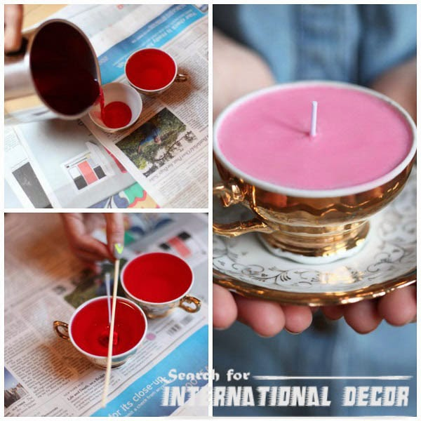 Candles In Cups Recycle Ideas
