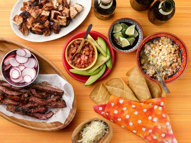 Sweet-and-Spicy Chicken and Steak Taco Bar