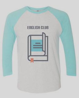 Contoh desain kaos kelas club bahasa inggris lengan panjang
