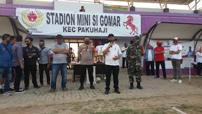 Sempat Terhenti, Pertandingan Final Sepakbola Antar Desa Di Pakuhaji Berlanjut
